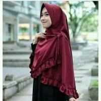 Hijab Instan Khimar / Jilbab Instant / Kerudung Syari Jumbo Terbaru