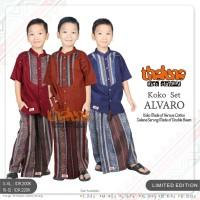 Baju Koko Anak Set Celana Sarung Koko Alvaro Original Thaluna