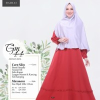 Gamis Dewasa Set Hijab Syari ORI Haihai GM 44 Gamis Corn Skin