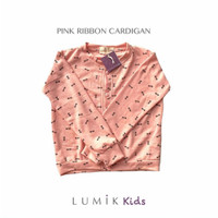 Lumik Pink Ribbon Cardigan