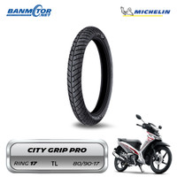 Ban Belakang Standar Supra X125 80/90-17 Michelin CityGripPro Tubeless