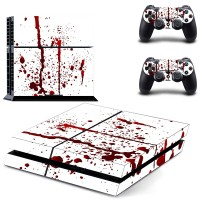 Custom Design Red Blood PS4 Skin Sticker Decal for Sony PlayStation