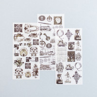 Rub-on Sticker Vintage Decorative Ornaments