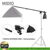 Extension Arm Midio Softbox dan Reflector Stand Boom Arm Stand Bar