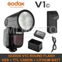 BIG SALE Godox V1C Canon TTL HSS Li-Ion Round Head Flash V-1C V1-C V1