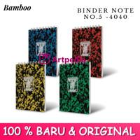 Pocket Note Bamboo Kecil / Binder Note Bamboo Kecil