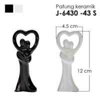 Patung Keramik dekorasi / patung porcelain dance 4 uk 12x4.5 cm
