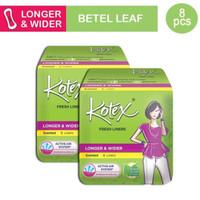 Buy 1 Get 1 Kotex Fresh Liner Longer & Wider Daun Sirih 8pcs