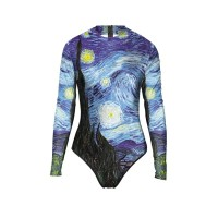 Baju Renang Wanita - Lengan Panjang - Motif Van Gogh