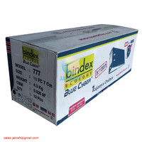 Ordner BINDEX 1/2 Folio Kuitansi 777 Hitam Black 7cm Eco Blue Cyber