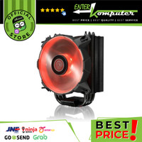 Heatsink Raijintek Leto Red-120mm slim-type CPU cooler-Black Coated-AM