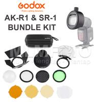 GODOX AK-R1 + SR-1 ROUND HEAD DIFFUSSER KIT AND ADAPTER TT600 AKR1 SR1