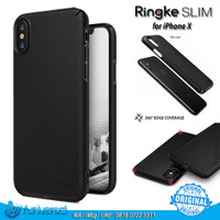 Rearth Ringke Slim iPhone X Case Fit Ultrathin Cover Hard PC 360 ORI