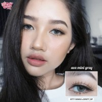 ORIGINAL SOFTLENS Kitty Kawaii Mini Ava Gray Grey Abu Abu