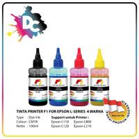 Tinta Printer F1 for Epson L-Series CMYK @100ml