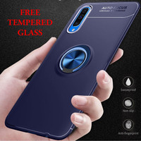Samsung A50 iRing Invisible TPU Soft Case - Free tempered