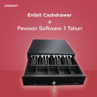 Enibit Cash Drawer + Aplikasi Kasir Pawoon 1 Tahun (Paket I)