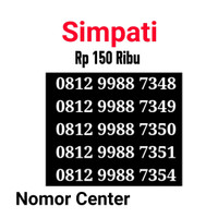 No Cantik Simpati Seri Double AA 9988-0812 9988 7348 s1