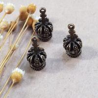 Charm Solid Mahkota Liontin Bandul Kalung Gelang Pendant Perhiasan