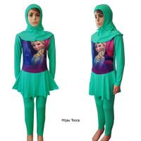 PROMO..!! Baju Renang Anak Muslim Karakter Frozen 9-10THn BRAM-K064SD