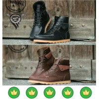 sepatu pria boots kulit martens clarks red wing safety pria f148