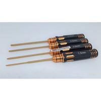 QA639 Titanium Obeng Hex 1.5/2/2.5/3mm Gold Set
