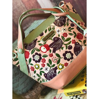 SLINGBAG : MICHI LEATHER PAINTING AND CARVING PINK (PREORDER)