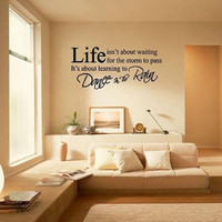 Wall Decal - Stiker Dinding Quote About Life