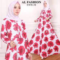 Gamis Maxi Emma 06 Baju Muslim Wanita Gamis Model Kekinian Terbaru