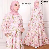 Maxi Emma (02) Army Baju Muslim Wanita Gamis Model Kekinian Terbaru