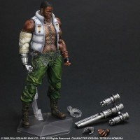 Play Arts Kai Barret Wallace Final Fantasy VII Advent Children MISB SQ