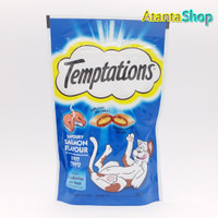 Temptations - 85g Savoury Salmon Flavour treats for cats snack kucing