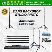 Bracket Stand 10ft untuk Backdrop Tiang Stand Background Foto Studio