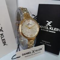 JAM TANGAN WANITA DANIEL KLEIN DK11957-3 GOLD ORIGINAL
