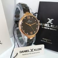 JAM TANGAN WANITA DANIEL KLEIN DK11957-5 BLACK ROSEGOLD ORIGINAL