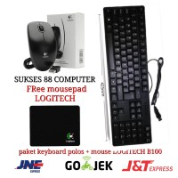 Paket keyboard USB + Mouse Logitech b100 USB 100% New. KABEL / Wired