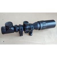 Scope 2-6x32AOE Reticle Rangefinder Red Green Teropong Sunhide MURAH B
