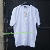 EASTLORE Baju Koko Putih Pria BIGSIZE - Baju Muslim Pria Jumbo SIZE