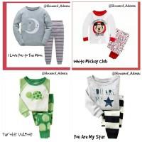Baju Tidur Anak pakaian Anak Piyama anak Unisex GAP size 3T