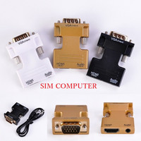 HDMI Female to VGA Male Converter+Audio Adapter Support1080P Signal Ou