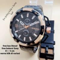 JAM TANGAN PRIA DIESEL RANTAI CHRONO ACTIVE + KULIT DIAMETER 5 CM (5 W