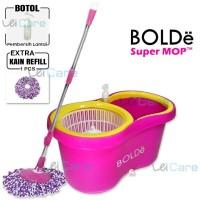 Bolde Super Mop 168 X Alat Pel Lantai Otomatis FREE Botol Sabun 2 KAIN