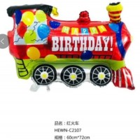 Balon Foil Train/ Balon Kereta/ Balon Happy Birthday Train/ Kereta