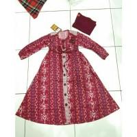 Dannis Abaya Anak d' Tenun Baju Muslim Anak Perempuan