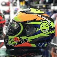 Helm Full Face NJS N 808 Smile Ink Kyt Asv Axio