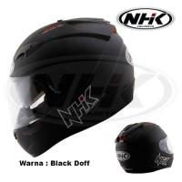 Helm NHK Full Face GP 1000 Black Doff not Ink Kyt nhk Axio