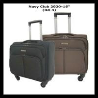 Navy Club Koper Cabin / Kabin Roda 4 Travel Bag Trolley Import 16 Inch