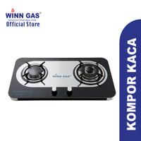 Winn Gas Kompor Kaca 2 tungku W-888