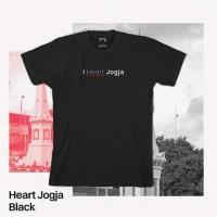 Kaos Tshirt Baju Combed 30S Distro I Heart Jogja Yogyakarta Jogjakarta