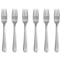 Garpu Makan Polos 6 pcs Stainless steel - Bulat 20 gram